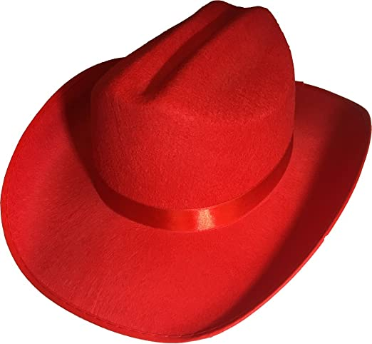 Amazon.com  New Child s Country Red Cowboy Felt Costume Hat  Toys   Games e80ba1df2c1