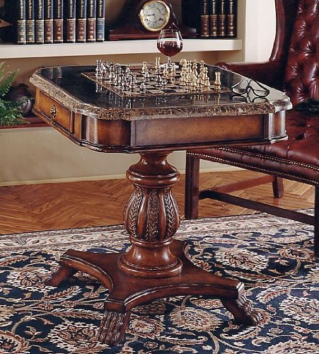 Stone Chess Tables (WOYBR 506070 Modern Heritage Modern Game Table)