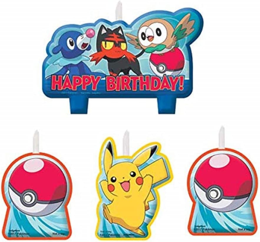 Amazon.com: Velas de cumpleaños de Pokemon Pikachu ...