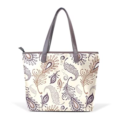 5d649f584749 Amazon.com: Horror Classical Feather Women Shoulder Bags for leather Large  Ladies Tote Bag Shopping Bag: Shoes
