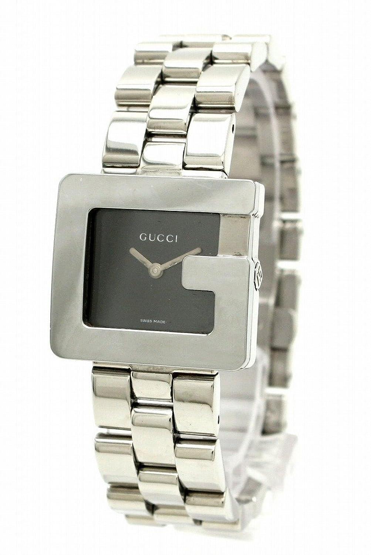 [グッチ] GUCCI Gモチーフ ブラック文字盤 ボーイズ レディース ユニセックス クォーツ 腕時計 3600J [中古] B0777VPQ72