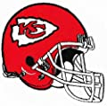 "Kansas City Chiefs Helmet Football NFL Embroidered Iron On Patches Hat Jersey 4"" x 2 1/4"""