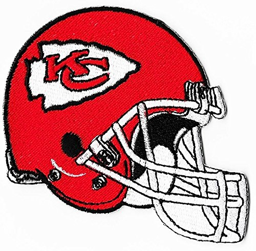 size 40 3348f 3cc6f Kansas City Chiefs Helmet Football NFL Embroidered Iron On Patches Hat  Jersey 4