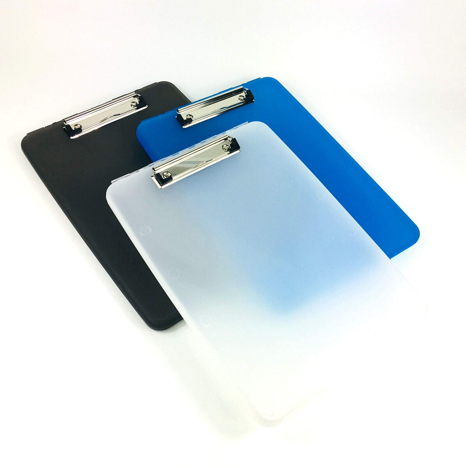 A4 Plastic Compact Clipboard Paper Storage Box File Durable Waterproof New-clear