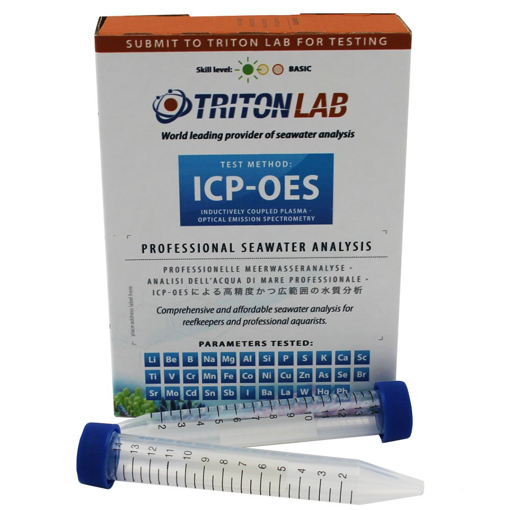 Triton Labs ICP-OES Water Test- Full Panel of 32 Elements - Saltwater Reef Testing Kit by Triton Labs