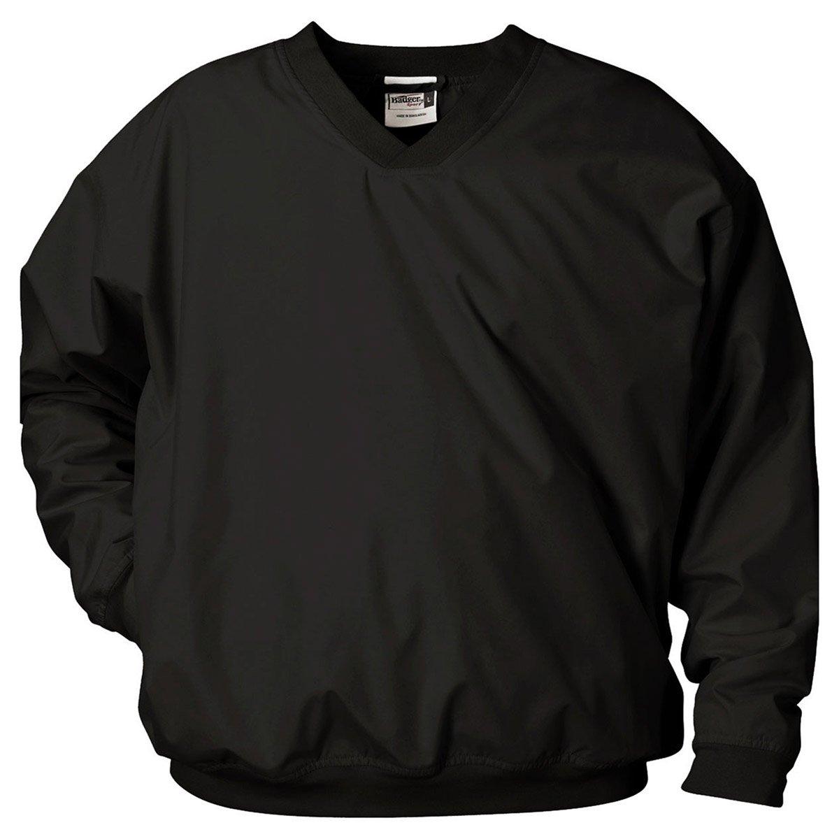 Badger Sport Microfiber Windshirt - 7618 - Black - XX-Large