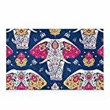 InterestPrint Hippie Mandala and Elephant Yoga India Arabic Style Home Decor Non Slip Soft Bath Rug Mats Shower Rug for Bathroom Tub Bedroom Large Size 20 x 32 Inches