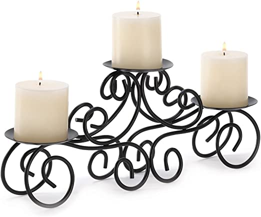 Wrought Iron 13 Candle Candelabra Lighting Weddings With Votive Holders