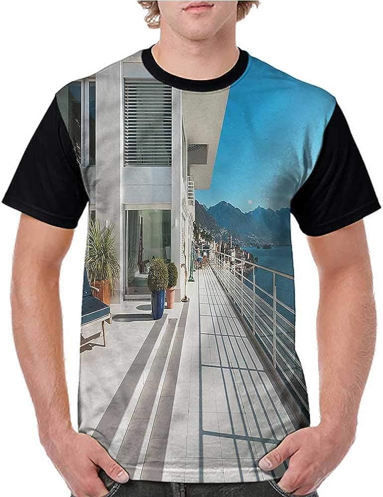 Camisa de béisbol para Hombre de Manga Corta, Ballena Cerca de Palm Island S-XXL - - Mujer-X-Large: Amazon.es: Ropa y accesorios