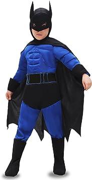 VESTITO COSTUME Maschera di CARNEVALE bambino PIPISTRELLO Batman nero
