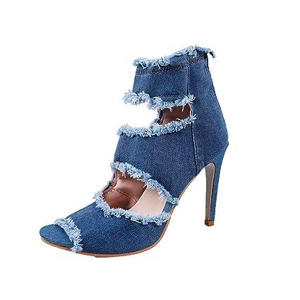 5acab4c0 ZHRUI Tacones altos para las mujeres, para el trabajo Utilidad del calzado  Gladiador Plataforma de