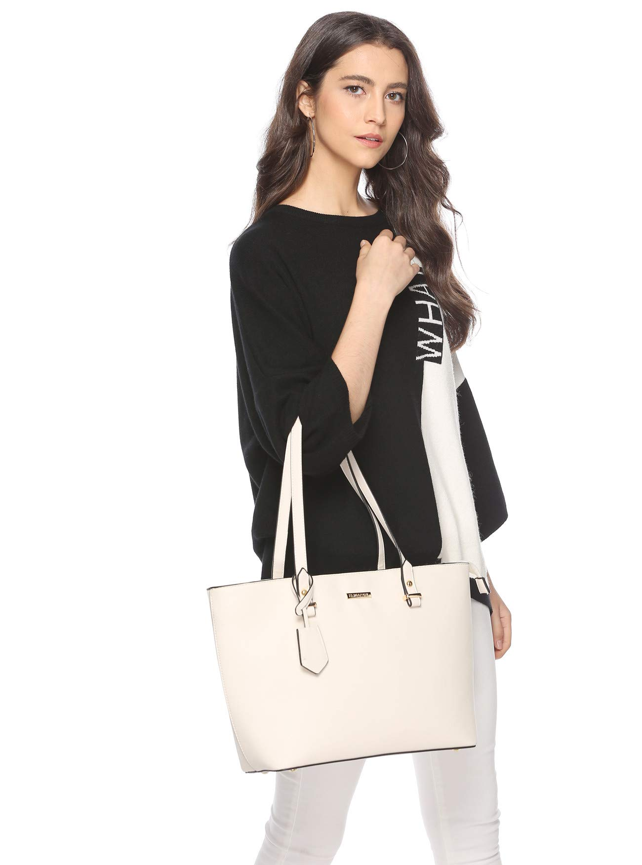 ELIMPAUL Women Fashion Handbags Tote Bag Shoulder Bag Top Handle Satchel Purse Set 4pcs by ELIMPAUL (Image #6)