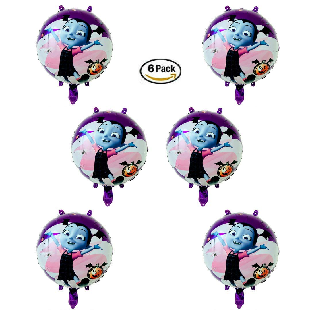 Vampirina Balloon 6 Pack Set of 18 Inch Mylar Foil Balloons by TESB