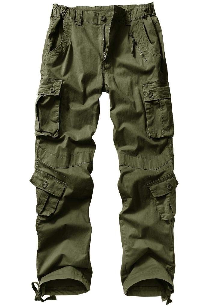 KOCTHOMY Women's Utility Relaxed Fit Straight Leg Cargo Pants with Multi Pockets