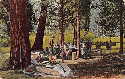 Kings River Canyon California Near Fresno Camping Scene Antique Postcard - River Fresno