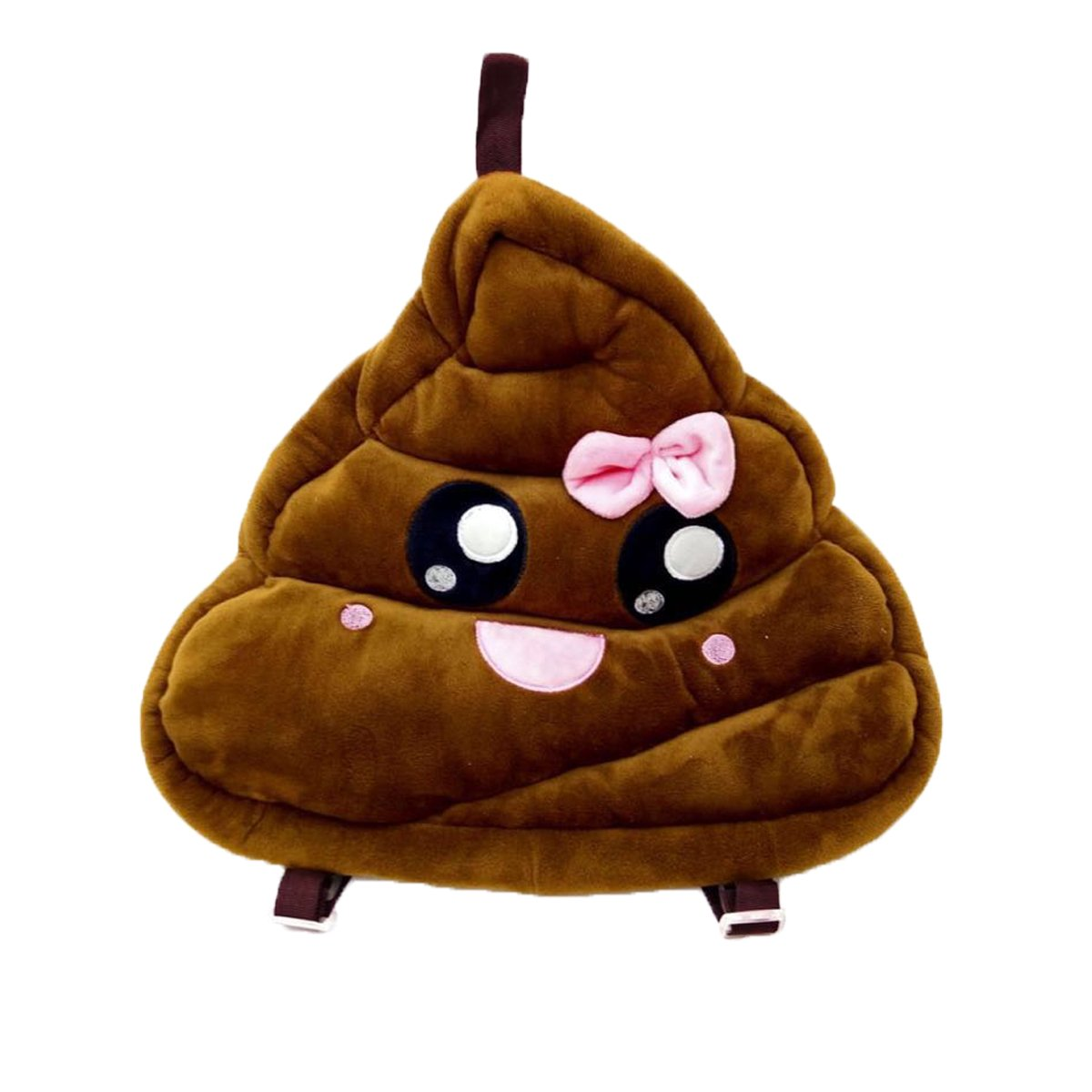 Details about Emoji Smily Pink Poop Pillow
