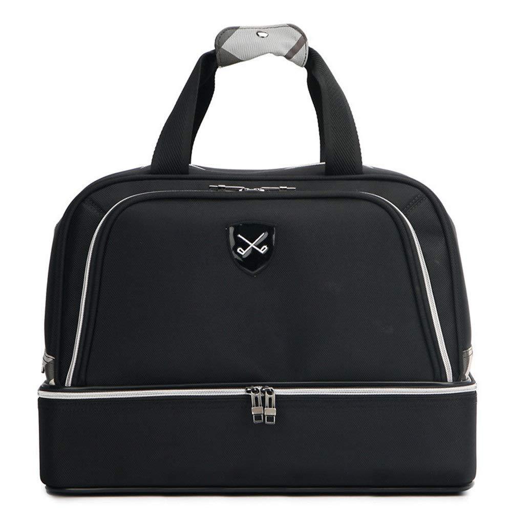 TAESOUW-Accessories Golf Clothing Bag Men's Golf Bag Double-Layer Handbag Shoe Bag Outdoor Lightweight Fitness Gym Bag Travel Tote for Men Women (Color : Black, Size : 452634cm) by TAESOUW-Accessories