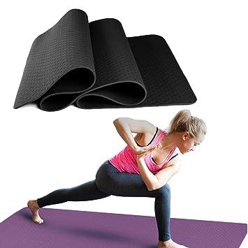 Ruosai TPE Yoga Mat - Colchoneta de Pilates,Una Estera de ...