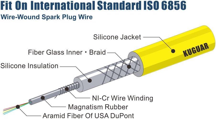 Ignition Spark Plug Wires Set for Chevrolet Aveo Daewoo Nubira 1999-2007 1.6L 2L