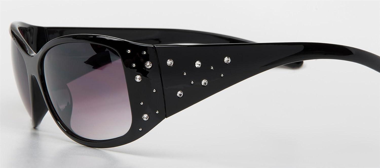 Schmetterlingsform styleBREAKER Sonnenbrille mit Strasssteine und Verlaufst/önung Damen 09020055