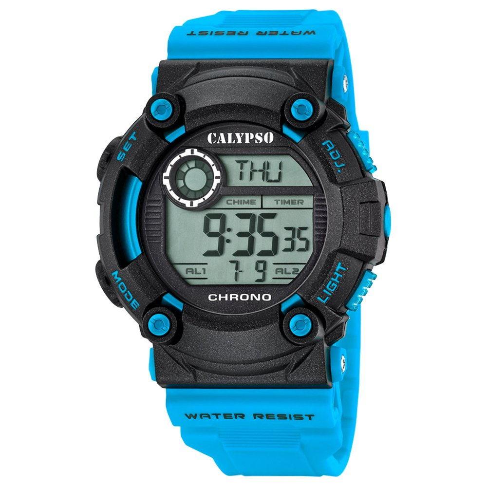 Calypso Herrenarmbanduhr Quarzuhr Kunststoffuhr mit Polyurethanband Alarm-Chronograph digital alle Modelle K5694, Variante:02: Amazon.es: Relojes