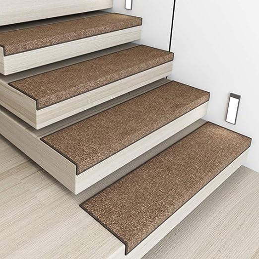 SF-ICZY - Alfombrilla Antideslizante para Escalera, autoadhesiva, para decoración del hogar (Juego de 3), Color marrón, 30 x 120 cm: Amazon.es: Hogar
