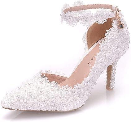 VINEIL Women Ankle Strap High Heels