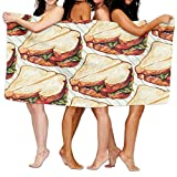 Doormat shirts Holy Sandwich Adult Soft Microfiber Printed Beach Towel For Swimming,surf,Gym,spa 80cm130cm