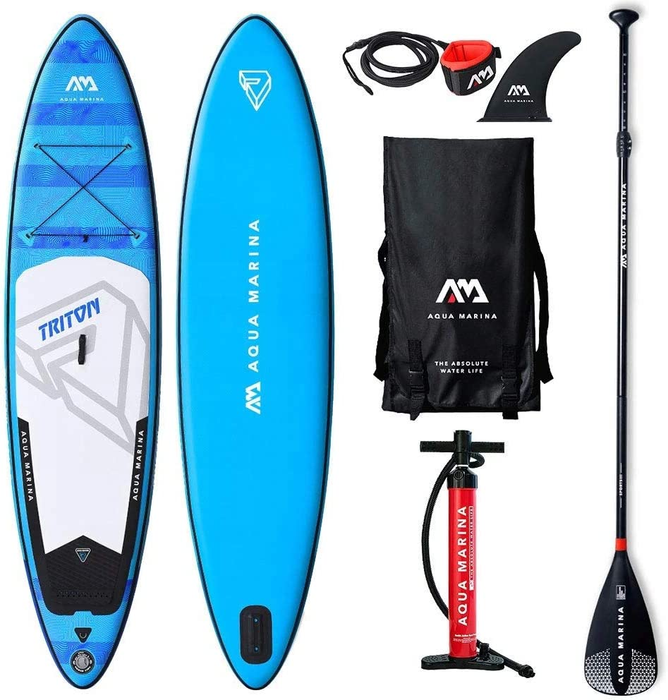 Aqua Marina Triton Inflatable Sup Isup Stand Up Paddle Board 340 X 81 X 15 Amazon De Sport Freizeit