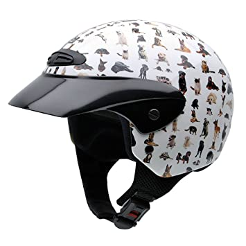 NZI 050272G709 Single Jr Graphics Bestfriends Casco de Moto, Diseño Animales, Talla 52-