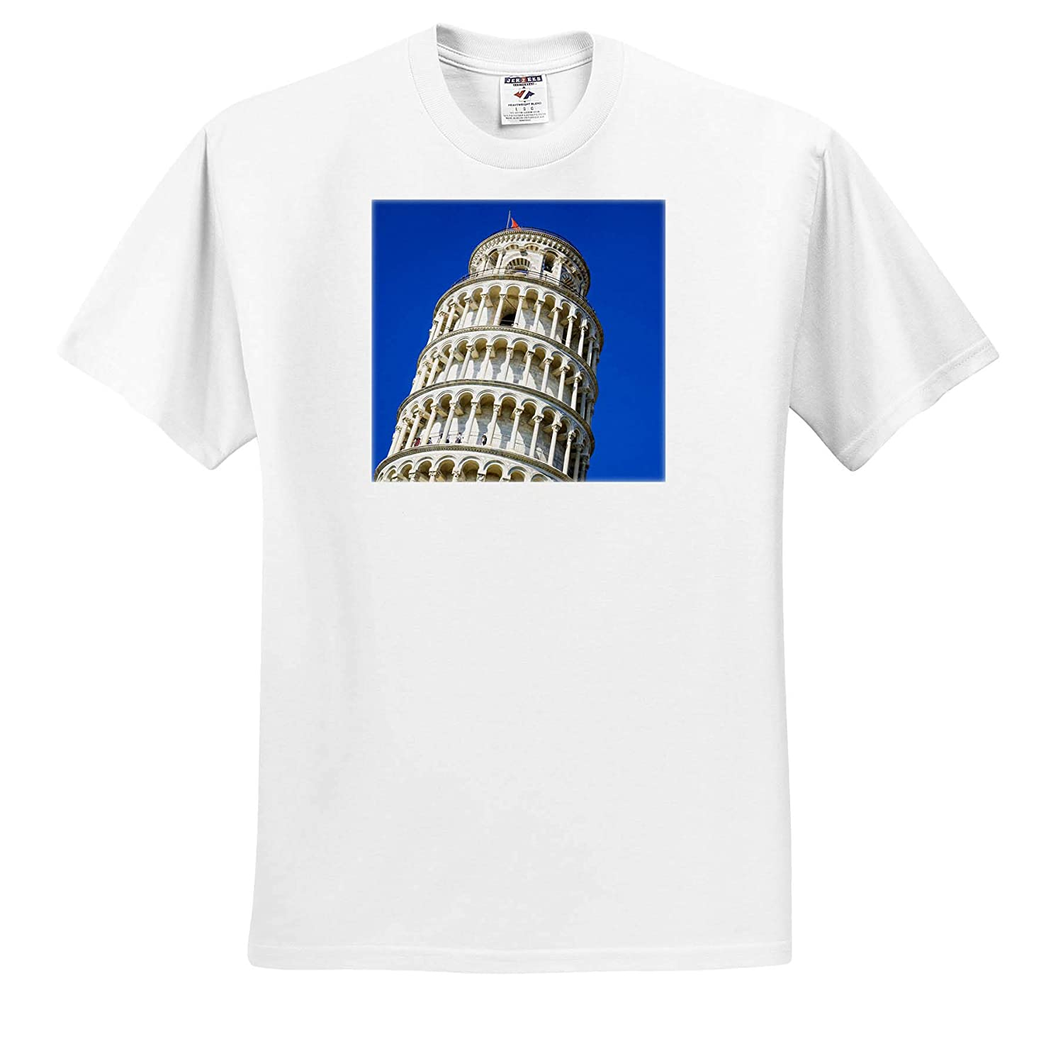 Italy Tuscany Pisa Adult T-Shirt XL 3dRose Danita Delimont ts/_313745 Tuscany The Leaning Tower of Pisa