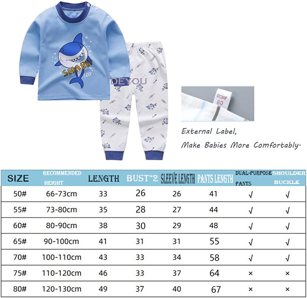 Top/&Bottoms,Baby Boys Girls Autumn and Winter Thermal Underwear Heating Long Underwear and Long Johns,Long Underwear Pants Thermal Pajamas DEYOU Kids Thermal Pyjamas Set