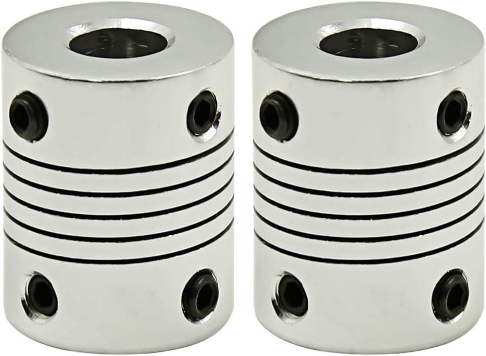 Sydien 6 to 6mm CNC Shaft Coupling Flexible Coupler Motor Connector 2pcs,D19xL25mm