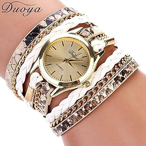 TONSEE Women Luxury Fashion Wristwatch, White (G Shock G 56)