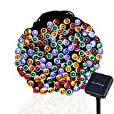 B-right 56ft 200 LEDs RGB Solar Fairy String Lights 8 Modes for Landscape, Garden, Home, Wedding Party, Christmas Tree