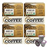 Organic 100% Hawaiian Kona Coffee Cups, Direct Trade - Hala Tree Farms, 72 ct. of Single Serve Capsules for Keurig K-Cup Brewers, Fresh Roasted Coffee LLC.