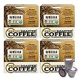 Organic 100% Hawaiian Kona Coffee Cups, Direct Trade - Hala Tree Farms, 72 ct. of Single Serve Capsulesfor Keurig K-Cup Brewers, Fresh Roasted Coffee LLC.