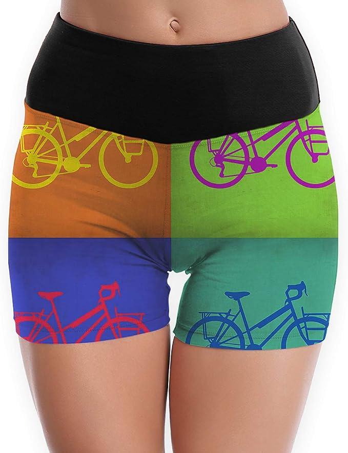 SYAyeah Bikes Women Workout Yoga Shorts Tight Yoga Pants Tummy Control