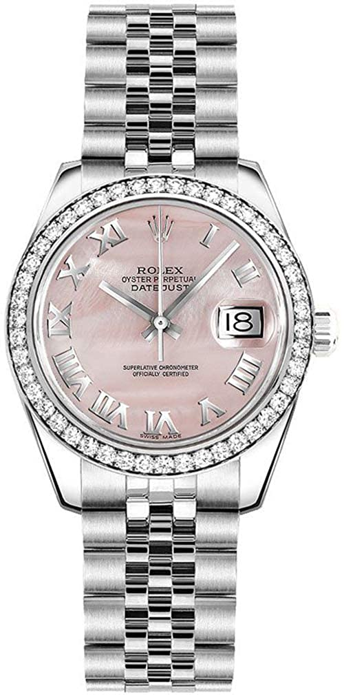 f851e89e67907 Amazon.com: Women's Rolex Lady-Datejust 26 Mother of Pearl Pink Dial  Jubilee Bracelet Watch - Ref. 179384: Watches