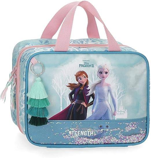 Neceser Frozen Find Your Strenght Adaptable, Azul, 25x20x11 cms: Amazon.es: Equipaje