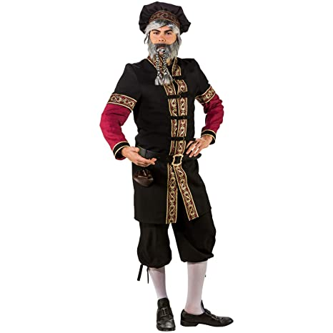 ORLOB Traje de Hombre Bata de Traje Medieval Boina Sombrero ...