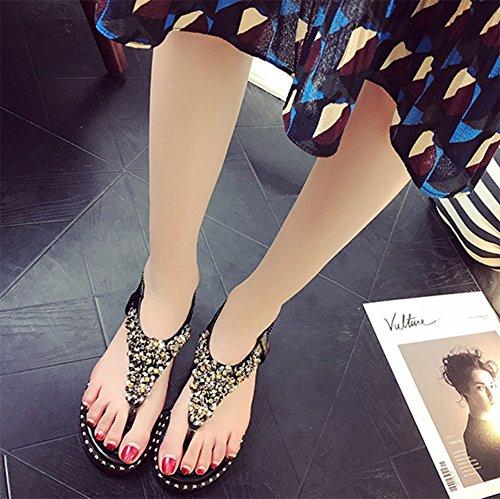 1 Sandalen Flip Pailletten KUKI Frauen Flops xpH7Zq