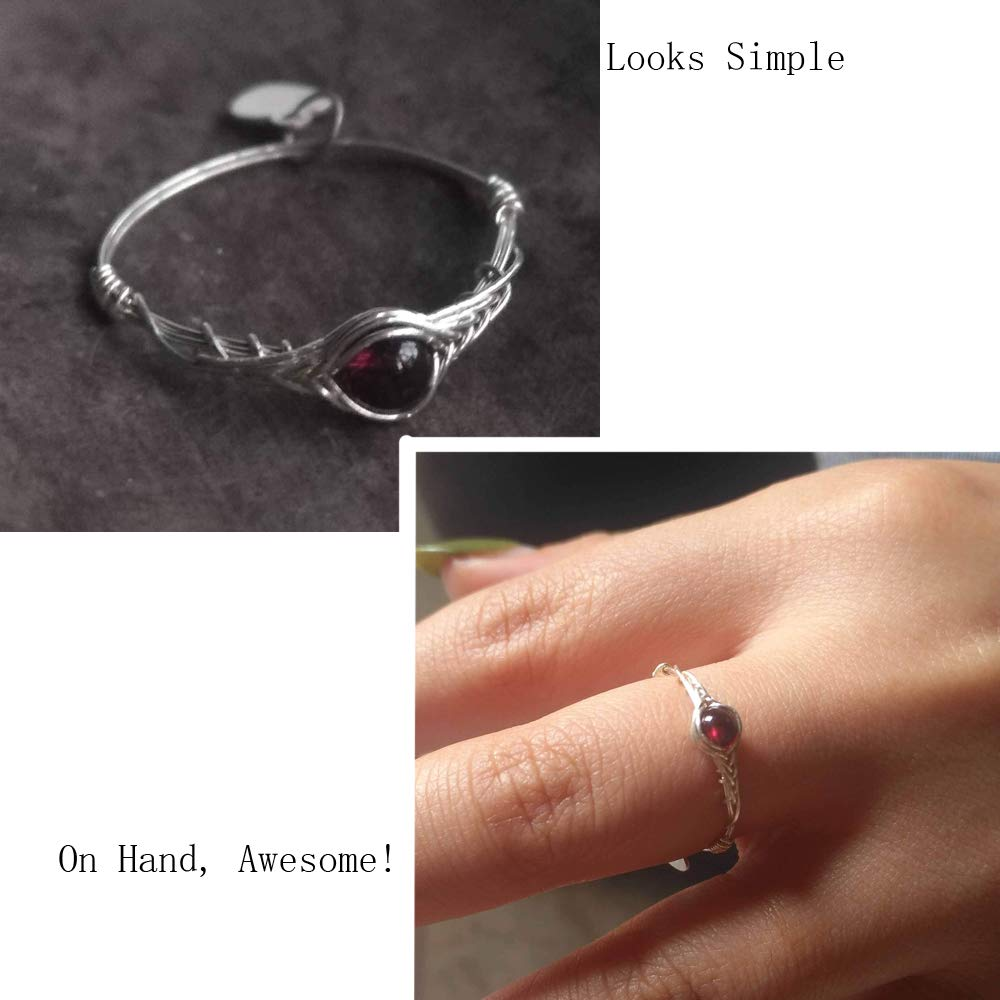 Size 5 Natural Garnet 925 Sterling Silver Chakra Stone Handmade Ring By GRB ROY size 5-12 available