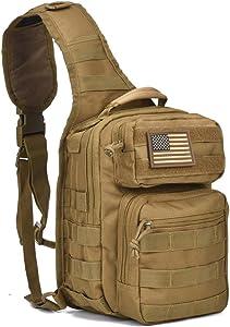 Tactical Sling Bag Military Rover Shoulder Sling Backpack Range Bag Everyday Carry Diaper Bag Pack Small