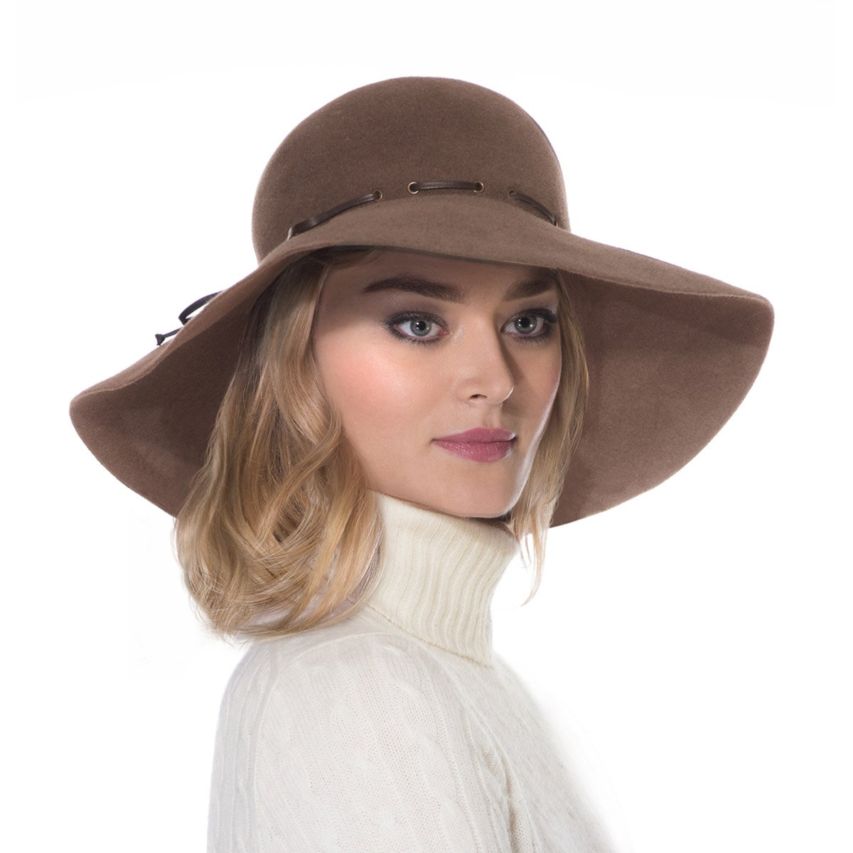 Eric Javits Luxury Fashion Designer Women's Headwear Hat - Victoria - Mink by Eric Javits