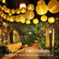 ALOVECO Solar String Lights Lanterns, 6.5m/21.3fts 30 LED Waterproof Outdoor Solar Lights Garden Chinese Lantern, String Lights Fairy Lights Party Christmas Garden Yard
