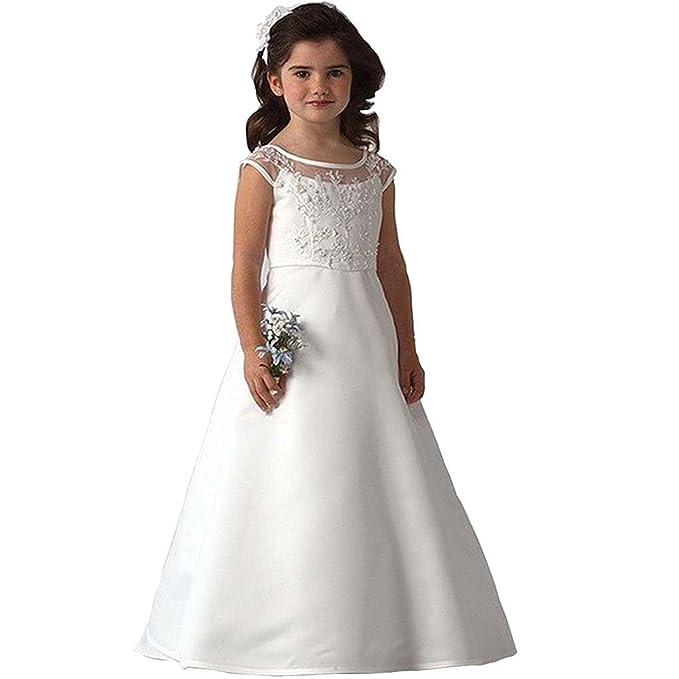 Beyonddress Mädchen Prinzessin Blumenmaedchen Kleid Maedchen Hochzeit Erste Kommunikation Kleid Ballkleid Maedchenkleid