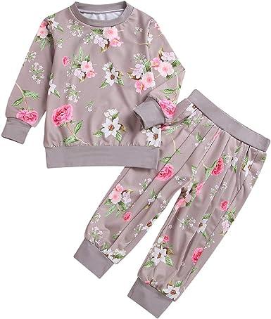 Toddler Kids Baby Girl Velvet Tops Sweatshirt Pants Outfits Leggings Clothes UK