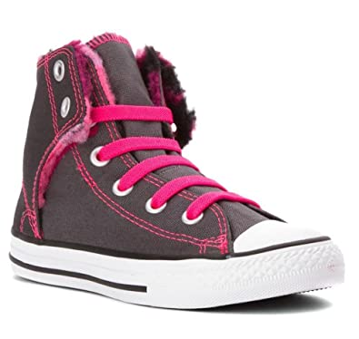 f0d6b4a3e13cfa Converse Chuck Taylor All Star Easy HI Girls Thunder 650009F (Big Kid 6)  Grey