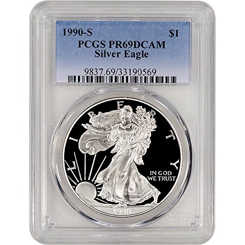1990 S American Silver Eagle Proof (1 oz) $1 PR69 PCGS DCAM - 1990 American Silver Eagle